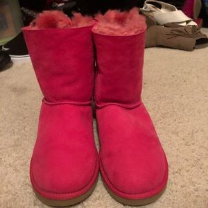 UGG Shoes - Pink Bailey Bow 2nd edition kids Uggs